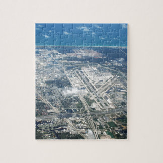 Aerial view of Fort Lauderdale Airport. (FLL) Jigsaw Puzzle
