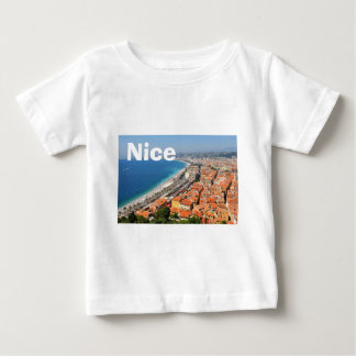 Aerial view of French Riviera in Nice, France Baby T-Shirt