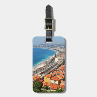 Aerial view of French Riviera in Nice, France Bag Tag