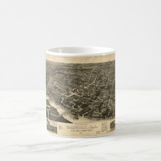 Aerial View of Gadsden, Alabama (1887) Coffee Mug