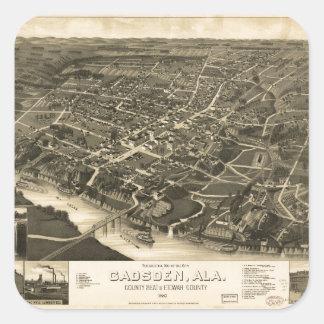 Aerial View of Gadsden, Alabama (1887) Square Sticker