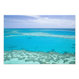 Aerial view of Great Barrier Reef by Photo Print
