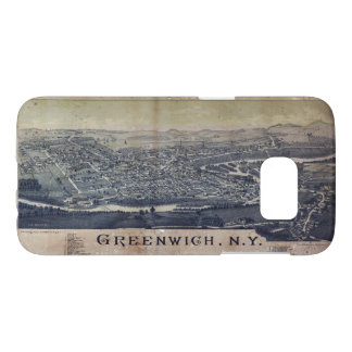 Aerial View of Greenwich, New York (1885) Samsung Galaxy S7 Case