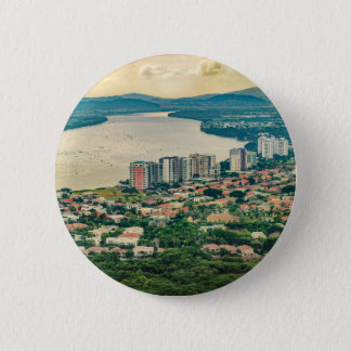 Aerial View of Guayaquil Outskirt from Plane 2 Inch Round Button