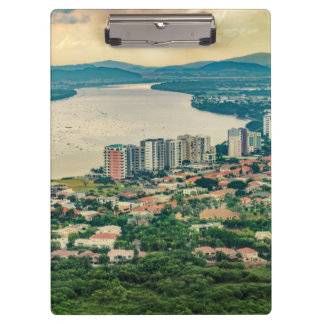 Aerial View of Guayaquil Outskirt from Plane Clipboard