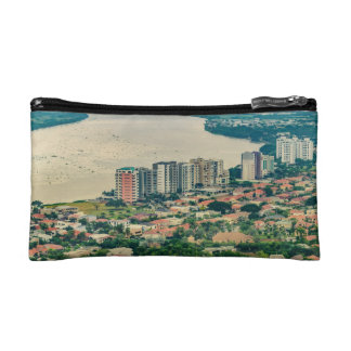 Aerial View of Guayaquil Outskirt from Plane Cosmetic Bag