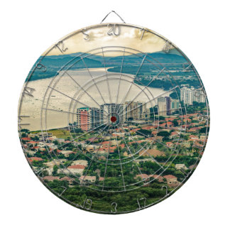Aerial View of Guayaquil Outskirt from Plane Dartboard