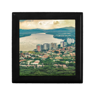 Aerial View of Guayaquil Outskirt from Plane Gift Box
