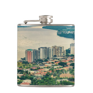 Aerial View of Guayaquil Outskirt from Plane Hip Flask