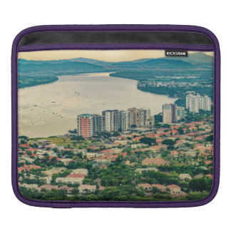 Aerial View of Guayaquil Outskirt from Plane iPad Sleeve