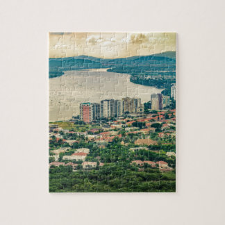 Aerial View of Guayaquil Outskirt from Plane Jigsaw Puzzle