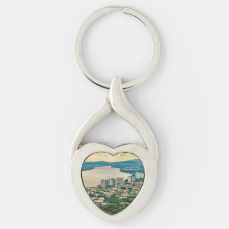 Aerial View of Guayaquil Outskirt from Plane Keychain