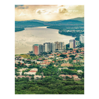 Aerial View of Guayaquil Outskirt from Plane Letterhead
