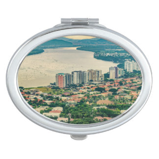 Aerial View of Guayaquil Outskirt from Plane Makeup Mirrors