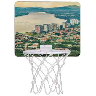 Aerial View of Guayaquil Outskirt from Plane Mini Basketball Hoop