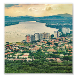 Aerial View of Guayaquil Outskirt from Plane Photo Print