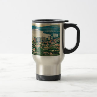 Aerial View of Guayaquil Outskirt from Plane Travel Mug