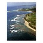 Aerial View Of Hanalei Shore - Kauai Postcard