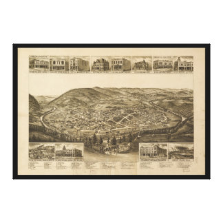 Aerial View of Harriman, Tennessee (1892) Canvas Print
