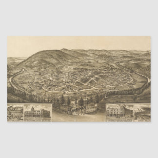 Aerial View of Harriman, Tennessee (1892) Sticker