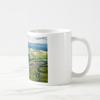 Aerial View Of Hills Landscape With River Coffee Mug