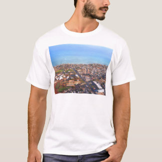 Aerial View of Honolulu Coastline, Oahu, Hawaii T-Shirt