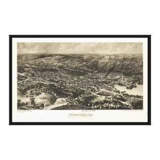 Aerial View of Hopedale, Massachusetts (1899) Canvas Print