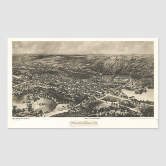 Aerial View of Hopedale, Massachusetts (1899) Sticker