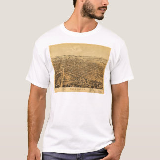 Aerial View of Kalamazoo, Michigan (1874) T-Shirt
