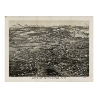 Aerial View of Kingston, New York (1875) Poster