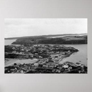 Aerial view of Kodiak, Alaska Photograph Poster