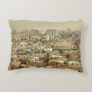 Aerial View of Lima Outskirts, Peru Decorative Pillow