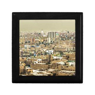 Aerial View of Lima Outskirts, Peru Gift Box