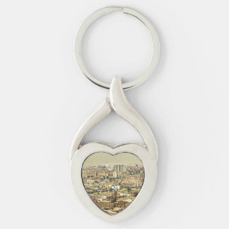Aerial View of Lima Outskirts, Peru Keychain