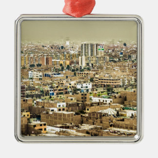 Aerial View of Lima Outskirts, Peru Metal Ornament