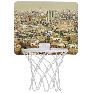 Aerial View of Lima Outskirts, Peru Mini Basketball Hoop