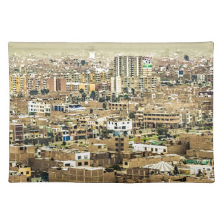 Aerial View of Lima Outskirts, Peru Placemat