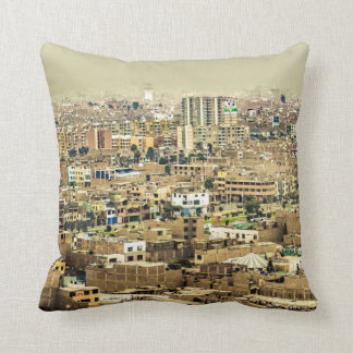 Aerial View of Lima Outskirts, Peru Throw Pillow