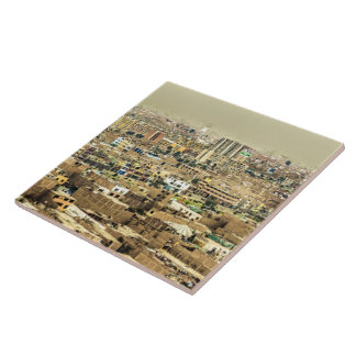 Aerial View of Lima Outskirts, Peru Tile