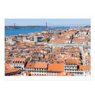 Aerial view of Lisbon, Portugal Postcard