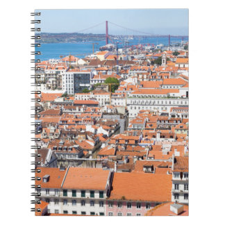 Aerial view of Lisbon, Portugal Spiral Notebook