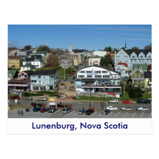 Aerial view of Lunenburg, Nova Scotia Postcard