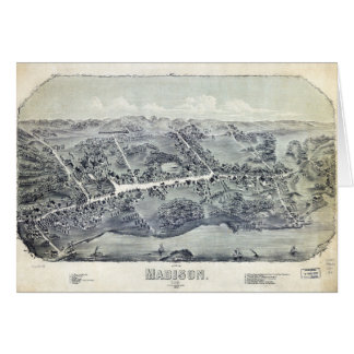 Aerial View of Madison, Connecticut (1881) Card