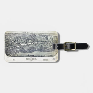 Aerial View of Madison, Connecticut (1881) Luggage Tag
