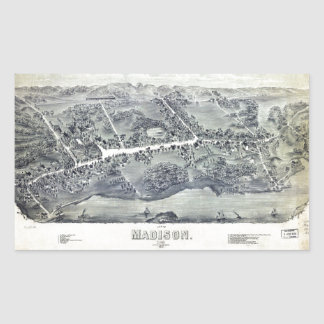 Aerial View of Madison, Connecticut (1881) Sticker