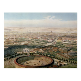 Aerial View of Madrid from the Plaza de Toros Postcard