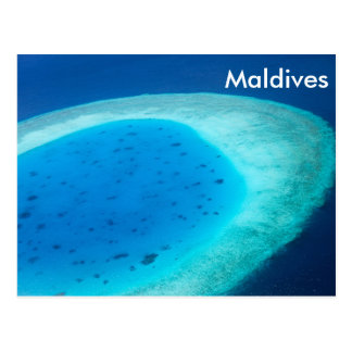 Aerial view of Maldives atoll Postcard