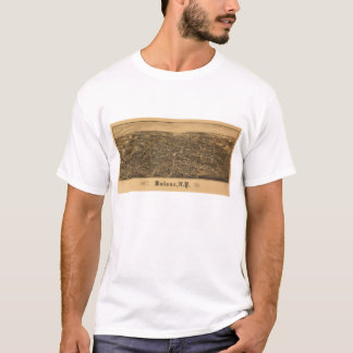 Aerial View of Malone, New York (1886) T-Shirt