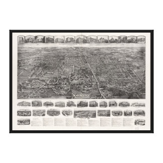 Aerial View of Manchester, Connecticut (1914) Canvas Print