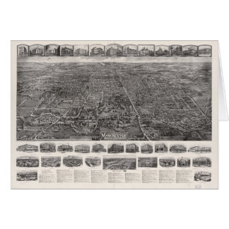Aerial View of Manchester, Connecticut (1914) Card